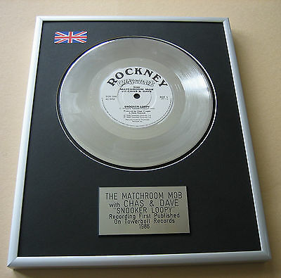 The Matchroom Mob CHAS & DAVE Snooker Loopy PLATINUM SINGLE DISC PRESENTATION