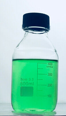 1pc of 500mL Reagent Bottle Clear Borosilicate Glass, Graduated with Screw Cap