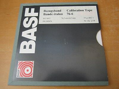 Professional Calibration Tape for tape recorders 30 ips, never used