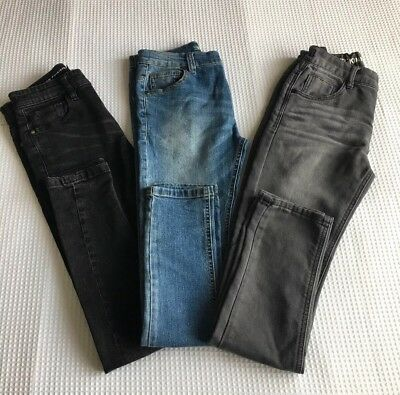 Boys Age 12-13 Super Skinny Jeans, 3 pairs - Next & Blue Zoo