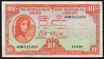 Central Bank of Ireland Ten Shillings. 1950, About GVF