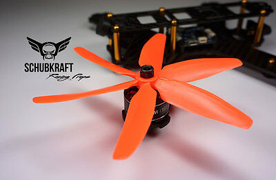 5x4x6 SCHUBKRAFT Racing Propeller DAL HQ Naze32 FPV Props 5040 F3 Kiss ORANGE