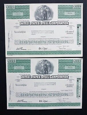 USA - 2x United States Steel Corporation - 1973 - issued to Dutch Trust office