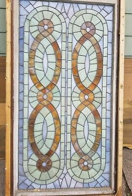"""Large antique Stained Glass Window 69 1/2"""""""