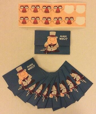 Guess Who? 9 Ziggy Selfmailers/Postalettes with Seals 1986 AGC, UPS UNUSED