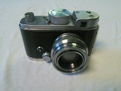 Berning Robot II Luftwaffe Spring Loaded Camera, Xenon Lens w/Leica Cap, Working