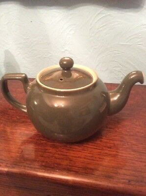 Vintage Denby Stoneware 'MANOR GREEN' - 2.5 Pint Tea Pot  Classic VG Condition