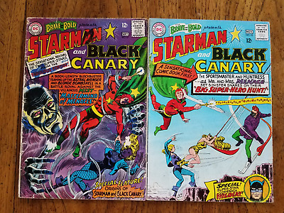 Brave and the Bold # 61 + 62 Lot of 2 (FR 1.0) Silver age Starman + Black Canary
