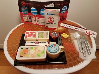 Re-Ment Rare Puchi Airlines Box #1 Samurai Airlines - Barbie Sized Food
