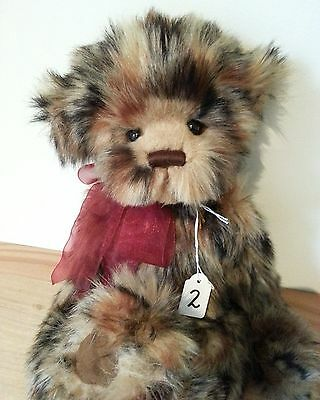 "Handmade Collectable Jointed  Charlie Bears ""Regan""  38cm"