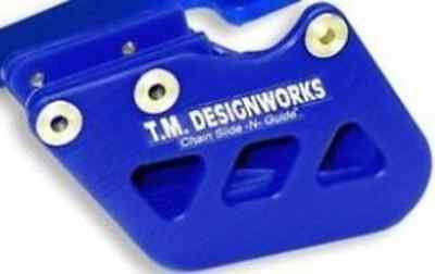 """T.M. Designworks BLUE """"Factory 1"""" Chain Guide for Yamaha 1996-06 YZ250F YZ450F"""