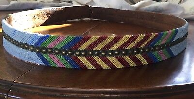 1800's Plateau Beaded Belt w/ Old Tag