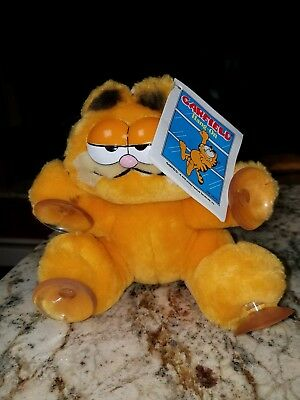 "1981 Vintage Garfield the Cat ""Climbing the walls for you"" Suction Cup plush NWT"
