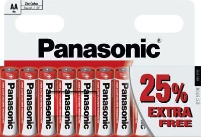10 X Aa Genuine Panasonic Zinc Carbon Batteries  R6 1.5V Expiry 2020