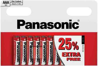 x10 AAA GENUINE PANASONIC ZINC CARBON BATTERY LR03 1.5V EXPIRY 2020