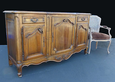 """Large Antique 19th Century French Louis XV Buffet Sideboard 39"""" High"""