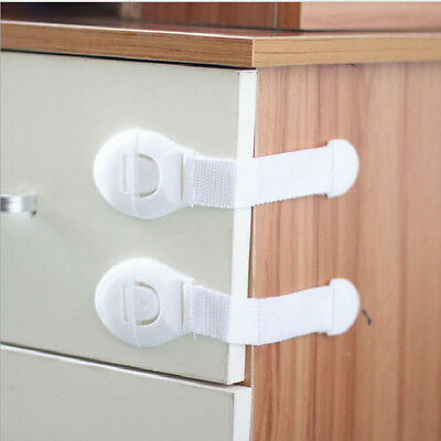 2Pcs Baby Adhesive Safety Lock For Cabinet Door Drawers Refrigerators