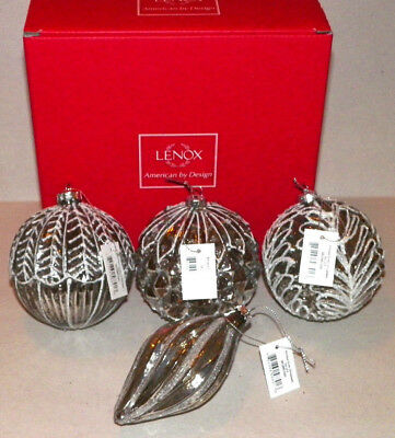 Lenox Antique silver Ornaments  (Set of 4) - New In Box