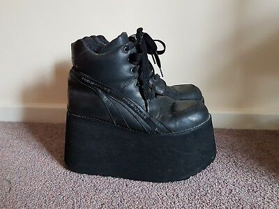 Pulse trainers size 6 platforms spice girls boots goth rave cyber cybergoth alt