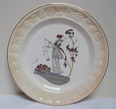 Royal Worcester Palissy 'jane' Embossed Decorative Cake Plate 9.25""
