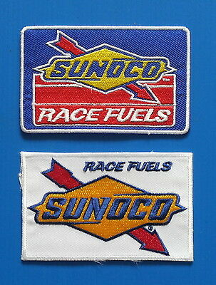 2 SUNOCO RACE FUEL GAS OIL Embrodered Iron Or Sewn On UNIFORM  Patches Free Ship