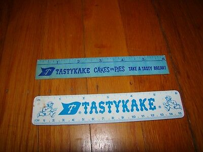 "2 RARE Vtg TASTYKAKE ADVERTISING 6"" RULERS"