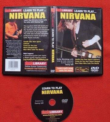 *** Lick Library Learn To Play... Nirvana DVD Lessons by Danny Gill ***
