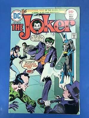 The Joker #1 O'neil Novick Dc Comics 1975 Batman Two Face Riddler 1St Solo Book