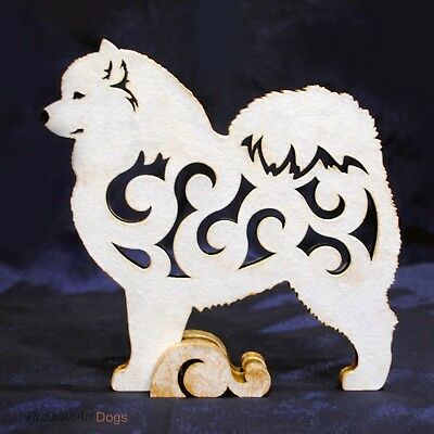 New Design Samoyed dog figurine, statue  made of wood