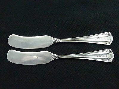 2 Whiting Sterling Silver Butter Knives, In The Stuart Pattern Excellent