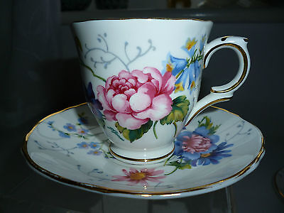 Two Crown Staffordshire B0Ne China Tea Cup And Suacer