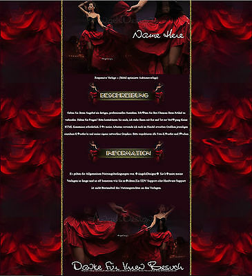 Responsive Auktionsvorlage Abendkleider Party Cocktail Schmuck Template 660