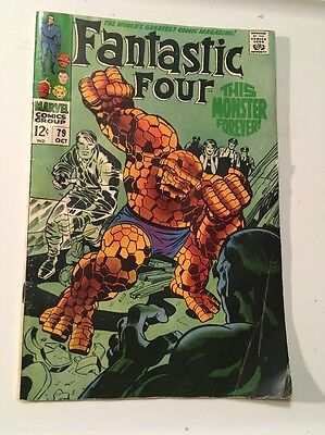Fantastic Four #79 (Oct 1968, Marvel) Silver Age VG Comic Book