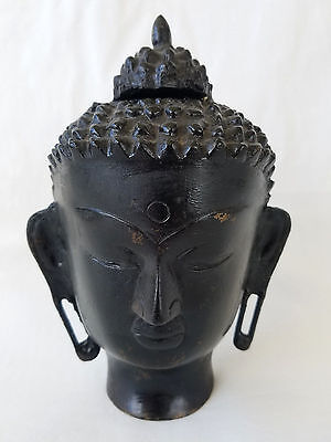 Balinese Cast Bronze Buddha Head early 20th century