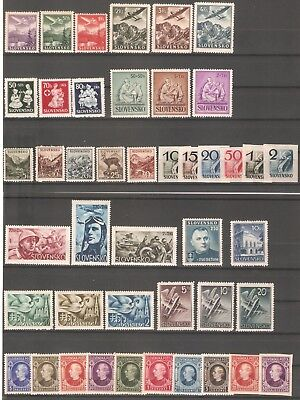 SLOVAKIA WW2 GERMAN PUPPET STATE 1939-1944 nice lot of  11 sets MNH** OG VF HCV