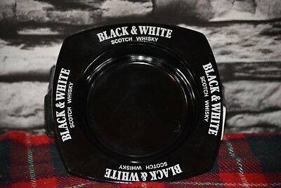Black & White Scotch Whisky Ashtray Aschenbecher Keramik Glas #c0245