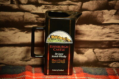 Edinburgh Castle De Luxe 12 Years Old Scotch Whisky Water Jug Wasser Krug #c0190