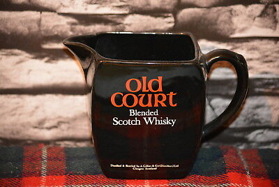Old Court Blended Scotch Whisky Water Jug Wasser Krug #c0292