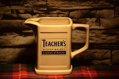 Teacher`s A Measure Of Charakter Scotch Whisky Water Jug Wasser Krug #c0143