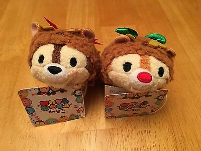 Chip and Dale Christmas Tsum Tsum, Disney Store Japan