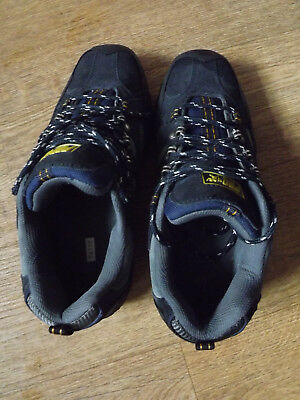 mens PDQ black suede trim trainers size uk 10