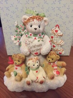 "Cherished Teddies ""Marla"" Snowbear W/Tree For Xmas Give Your Love Figurine"