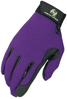 (Youth 4, Purple) - Heritage Performance Glove. Heritage Gloves