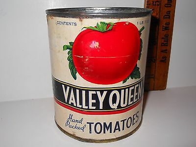 Vtg Valley Queen brand Tomatoes can/Wilson Mercantile Co Wausau/Rhinelander,WI