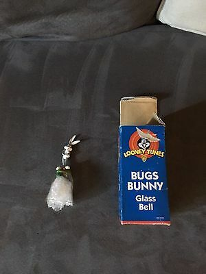 Warner Brothers Looney Tunes Bugs Bunny Glass Bell - 1998