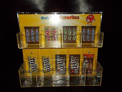 M&M Rare Magnetic Store Candy Display Collectible Shelf-Rack M&M COLLECTOR NEW !