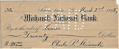 Charles P. Steinmetz (1865-1923) Autographed 1895 Dated Cancelled Check JSA/LOA