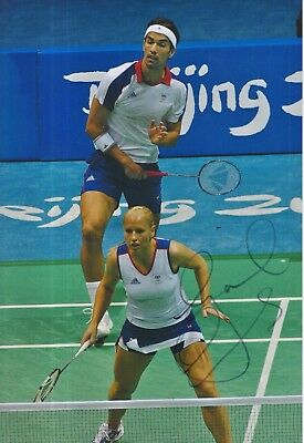 Gail Emms Hand Signed 12x8 Photo Team GB Olympics.