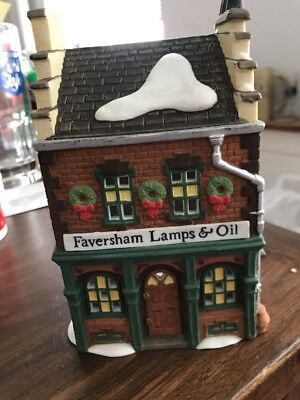 Department 56 Dickens' Village Series FAVERSHAM LAMPS & OIL W/Cord