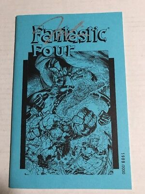 Fantastic Four (1996) #1 Blue Ashcan Limited to 2000 Copies NM SIGNED BY JIM LEE